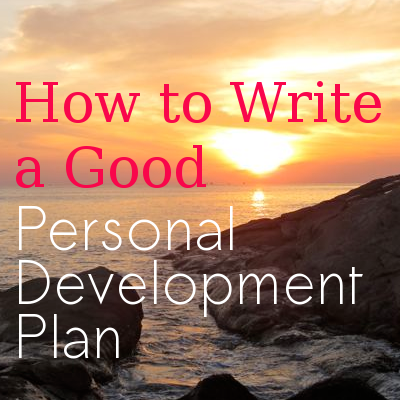 write personal dev plan