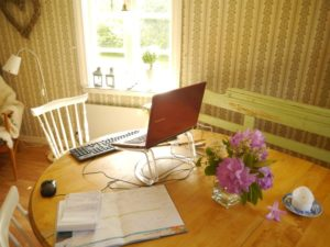 Office at a Swedish summer cottage