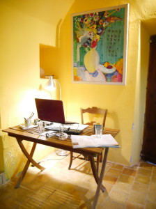 Cosy office in our Spanish Finca