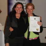 NLP graduation a proud moment! (Sharon Pearson and me)