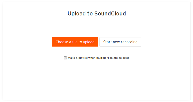 Upload-to-soundcloud